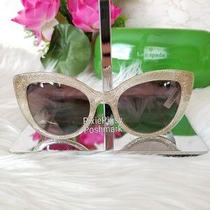 Kate Spade Cat Eye Labrenda Glitter Sunglasses